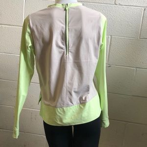lululemon athletica Tops - Lululemon tan and green LS top, sz 8, 59233